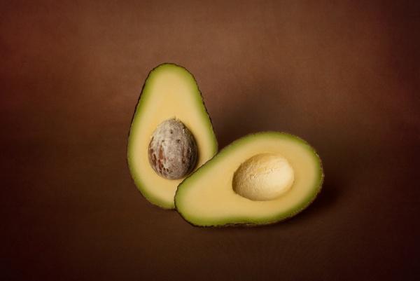 halves of fresh avocado on a