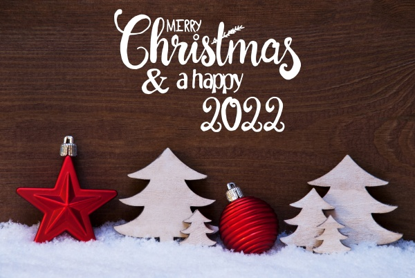 christmas tree snow red ball merry