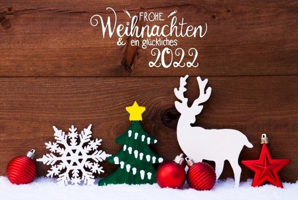ornament snow tree ball glueckliches 2022