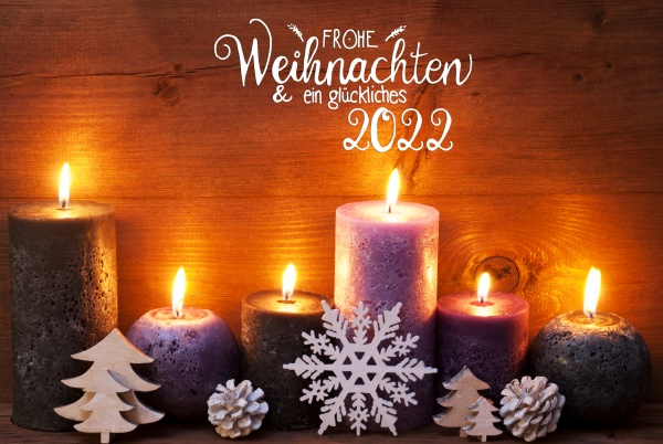 purple candle christmas ornament glueckliches 2022