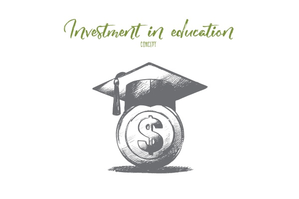 investment in education concept hand drawn