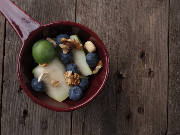 organic food in a bowl on