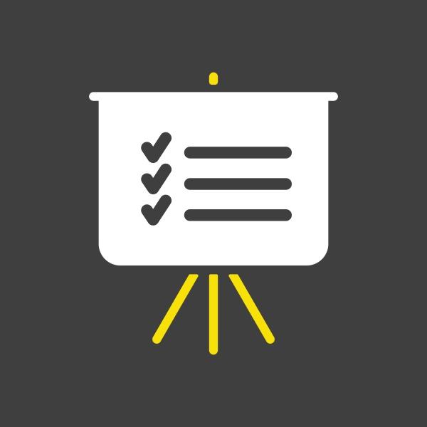 statistics in training board icon