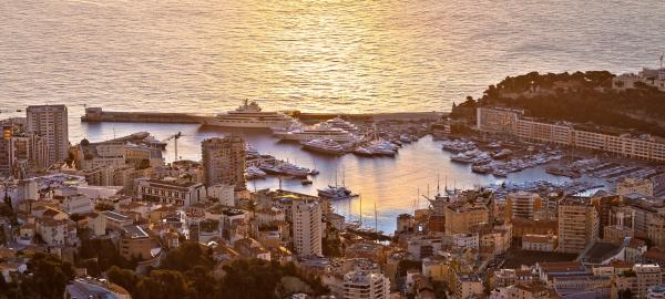 monte carlo luxury yacht harbor port