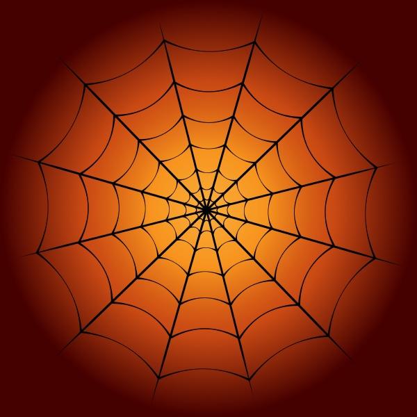 spider web and dark orange gradient