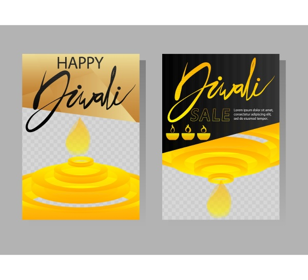 modern diwali design for presentations template