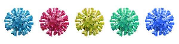 coronavirus outbreak microscopic view of