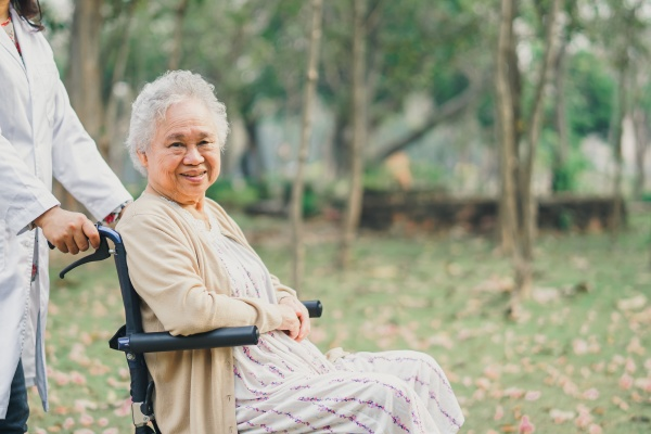 doctor help and care asian senior