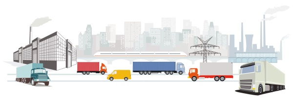 factory and truck transport industry