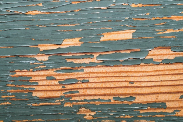 rough wood with peeling paint