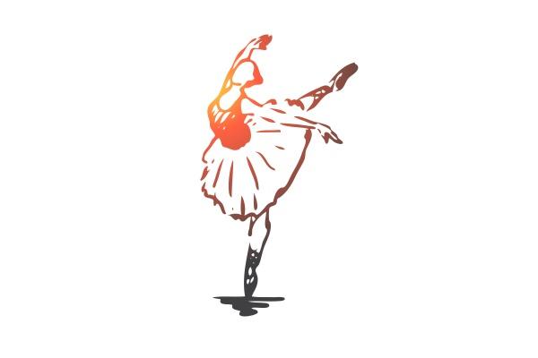 ballerina girl dance woman art concept