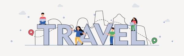 travel vector illustration tourism design vacation