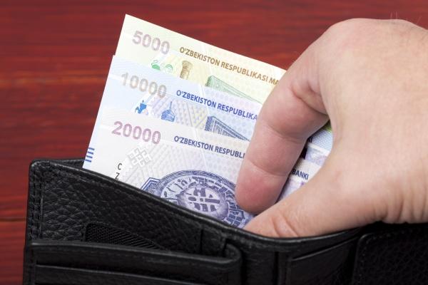 uzbekistani money in the black
