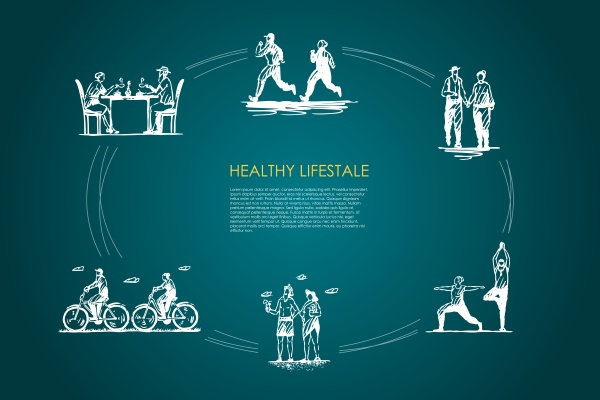 healthy lifestyle people jogging