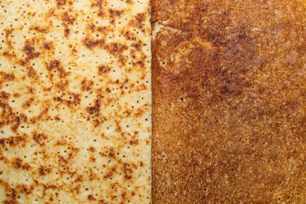 thin pancakes close up texture background