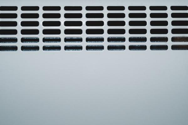 detail of radiator grill panel