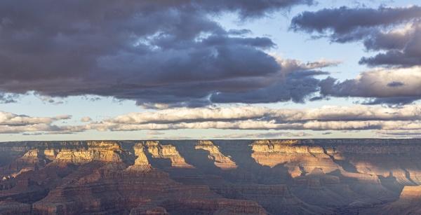 spectacular sunset at grand canyon