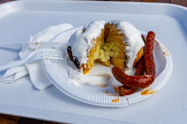 the traditional homemade polenta food bulz