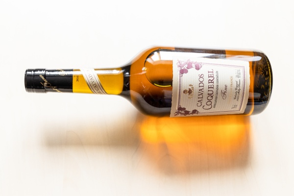 ying bottle with french coquerel calvados