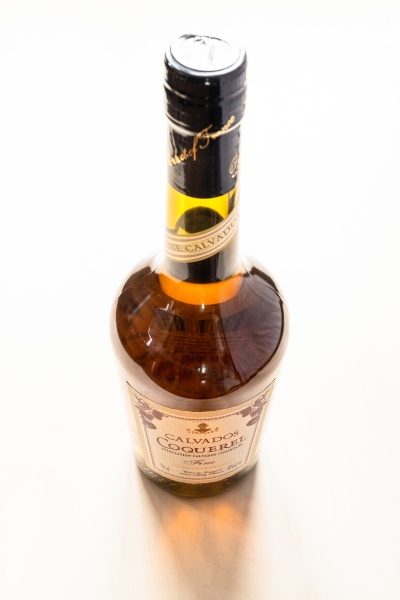losed bottle with french coquerel calvados
