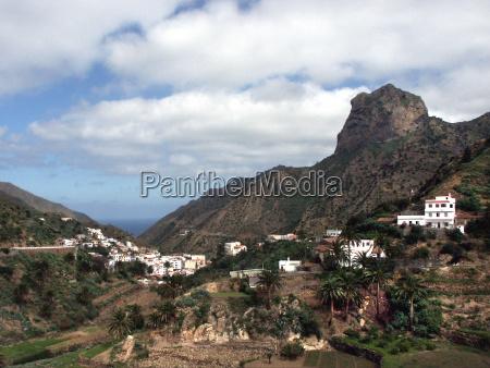 views of valle hermosola gomeracanary islands
