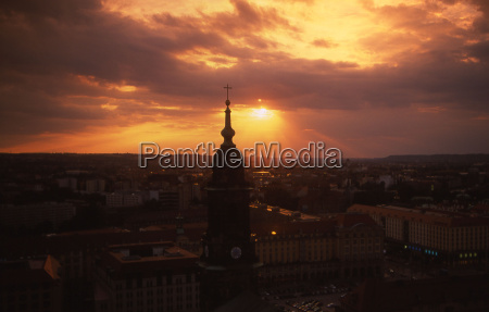 sunset dresden