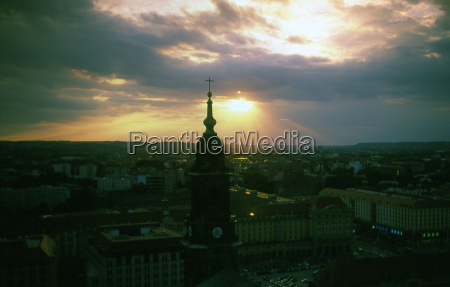 sunset in dresden