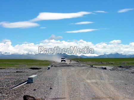 across tibet