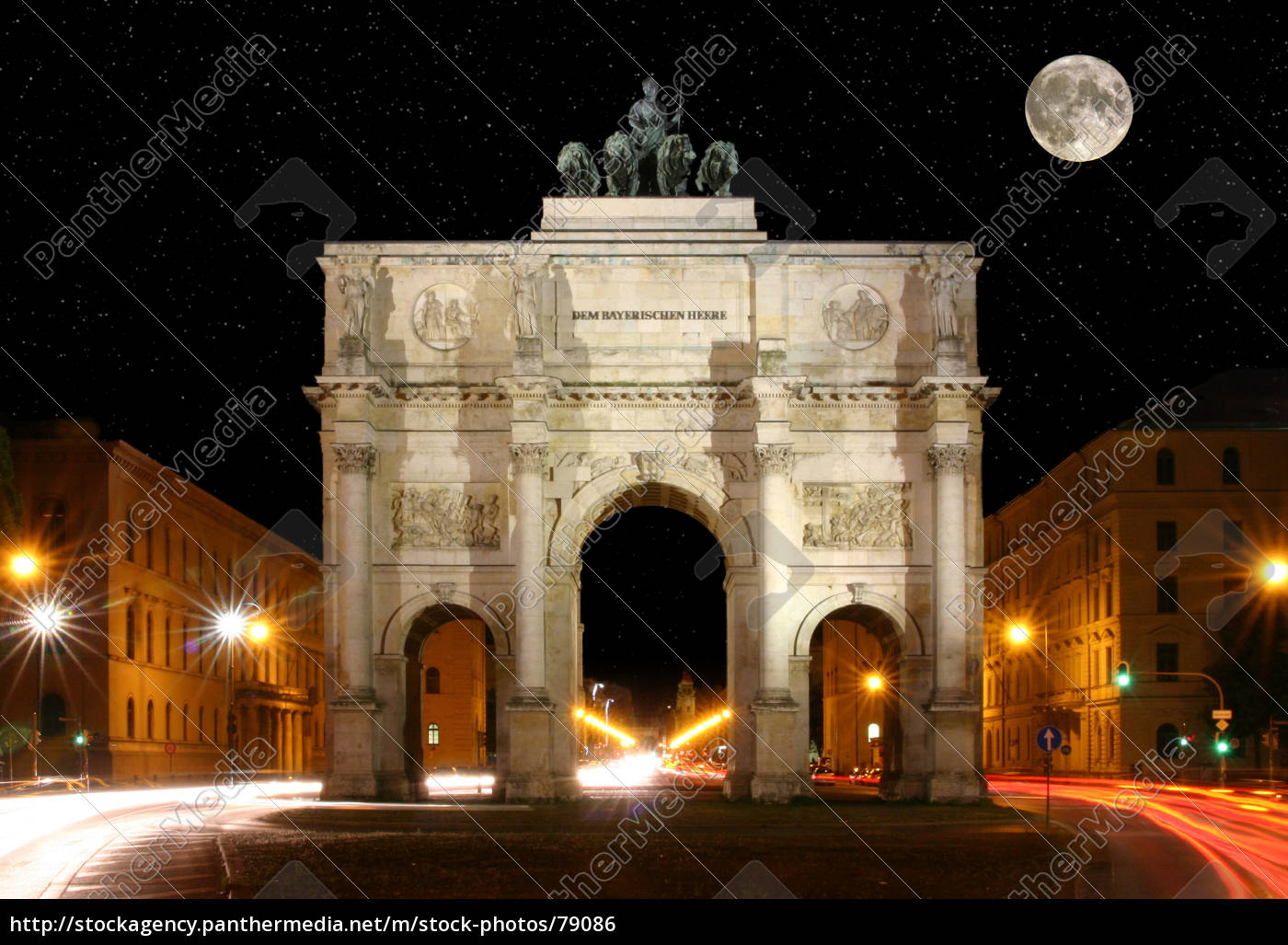 victory, gate, at, night - 79086