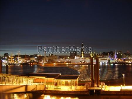 harbor view at night