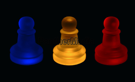 colorful pawn chess
