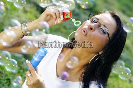 young, woman, with, glasses, on, summer - 109286