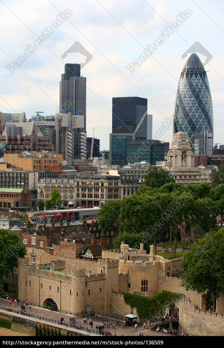 city, town, london, england, skyline, tower of london - 136509
