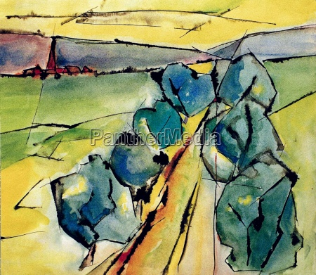 watercolor, landscape - 179850