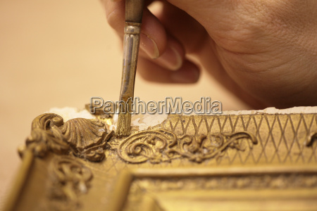 mano manos antiguo marco de imagen