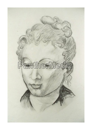 charcoal, drawing, copy, e., old, master - 199906