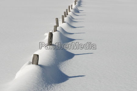 fence, in, snow - 204065