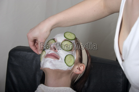 applying a face mask
