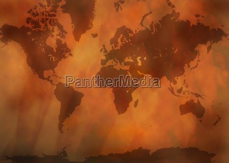 antique, world, map - 220966