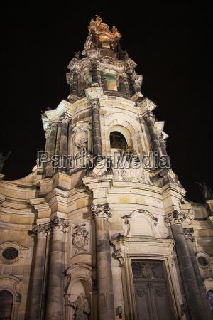 tower of dresden hofkirche