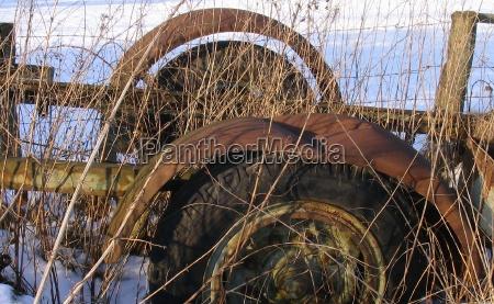 agricultura vehiculo herrumbre chatarra gasa basura