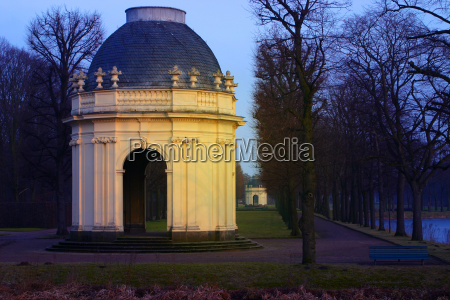 pavilion in the evening light