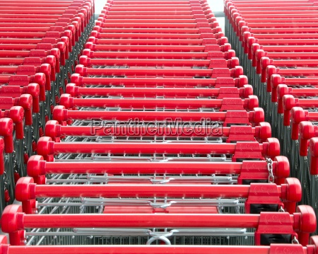 shopping, cart, red - 239757