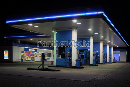 filling station by night