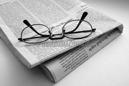 the, newspaper, with, glasses - 262721