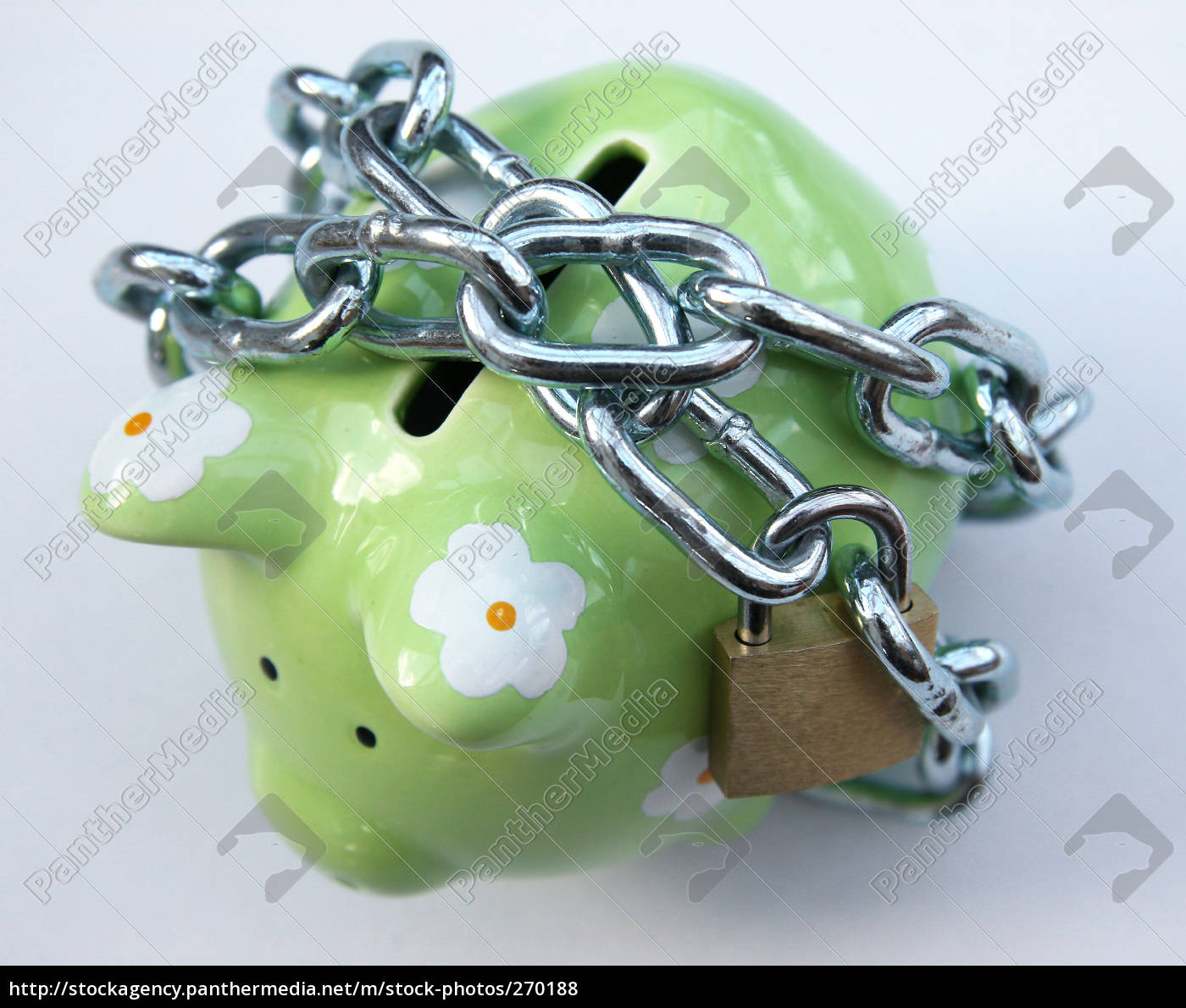 chained, piggy, bank, 1 - 270188