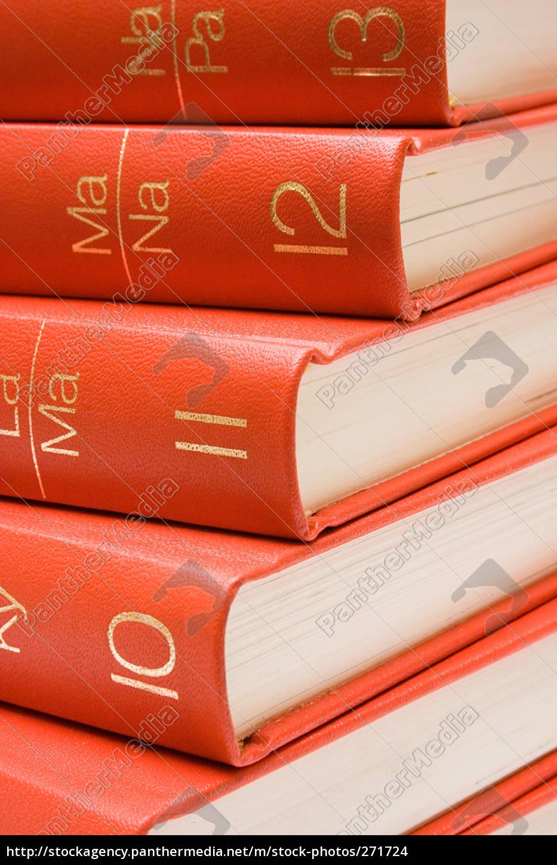 stacked, encyclopedias - 271724