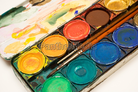 water, color, box, with, brush, ii - 271038