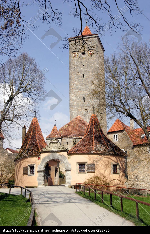 castle, gate, in, rothenburg, ob, der - 283786