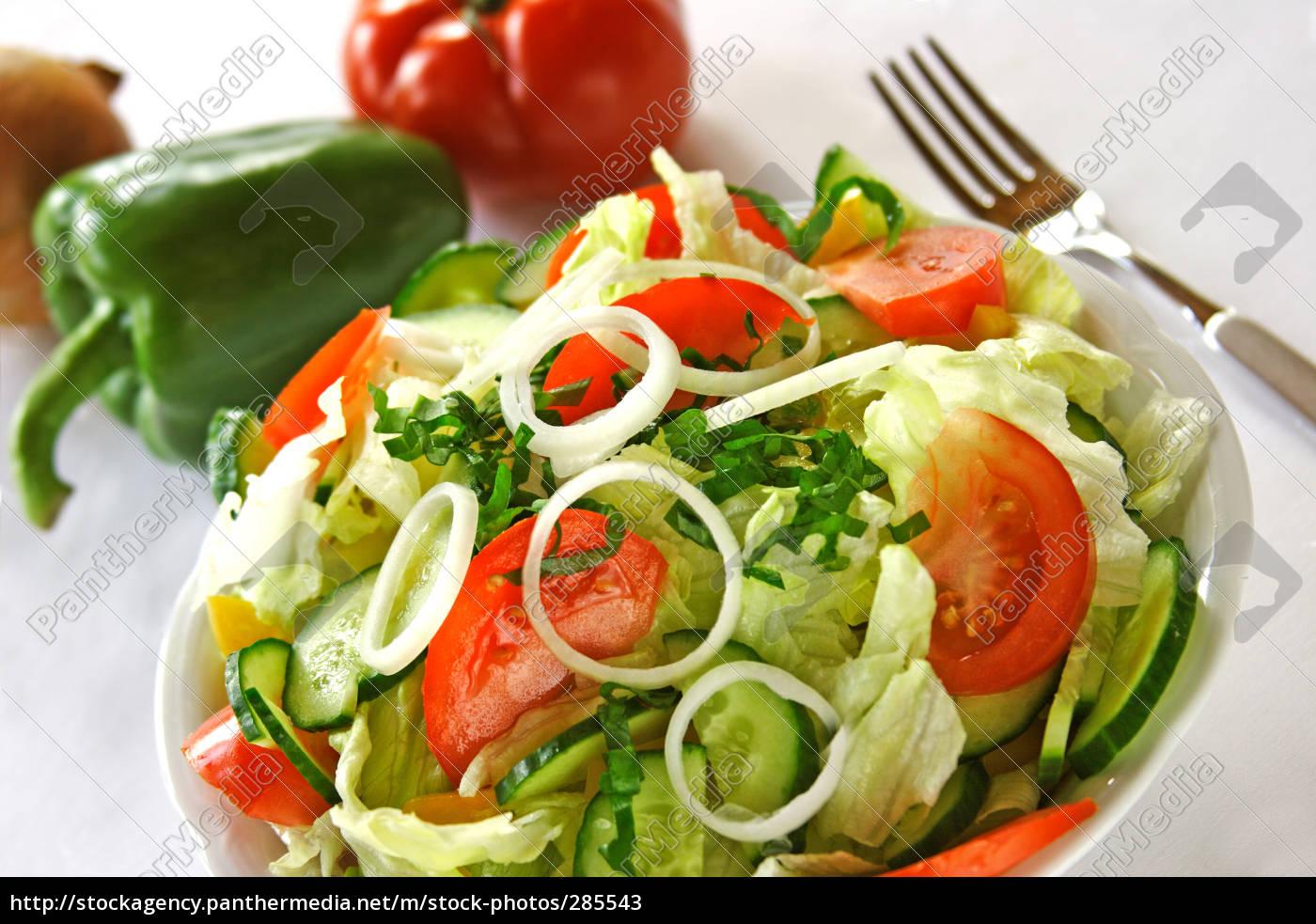 garden, salad, with, herbs - 285543
